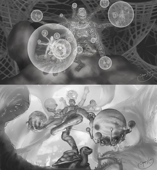 Orray of the Multiverse, sketches by Shana Koenig