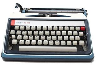 Retro Blue typewriter