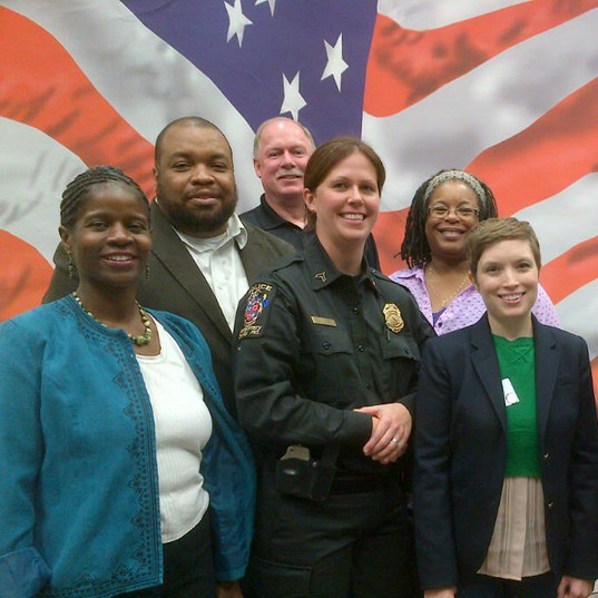 Marylin with Moco Police Officers.jpg
