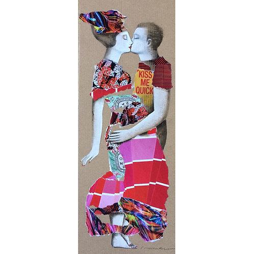 Collage El beso II - Menchu Uroz
