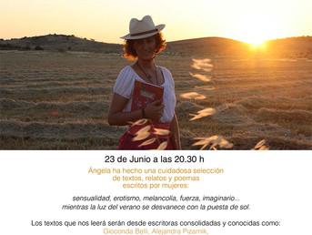 Lecturas con Ángela Pañeda. Relatos y poesía de mujeres: imaginario, inquietudes y erotismo 23 de Ju