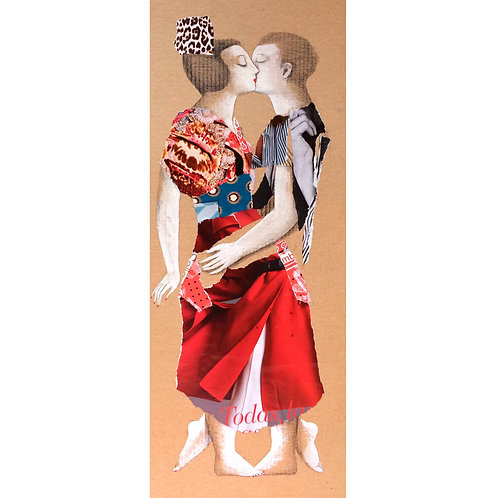 Collage El beso III - Menchu Uroz