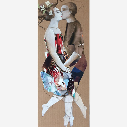 Collage El beso I - Menchu Uroz