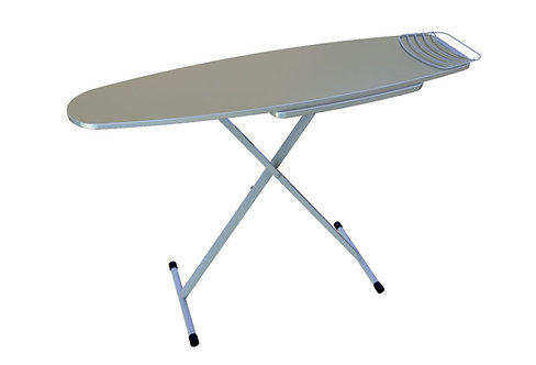Tabla de planchar reforzada con plancha manga tela aluminizada
