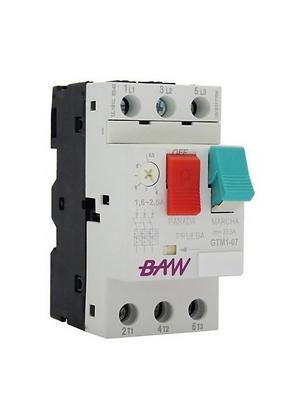 Guardamotor TM. 0,75kW. 1,6-2,5A. Icu:100kA. M/pulsadores