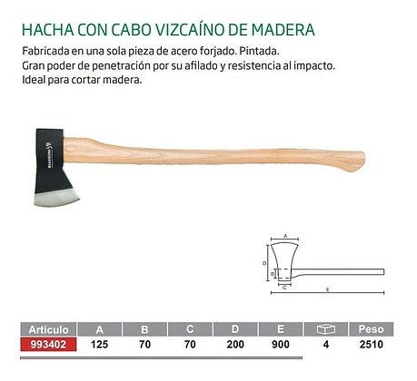 HACHA TUMBA FORJADA CON CABO VIZCAINO