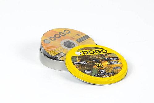DISCO DE CORTE ACERO INOX 115x1mm x10 UNIDADES