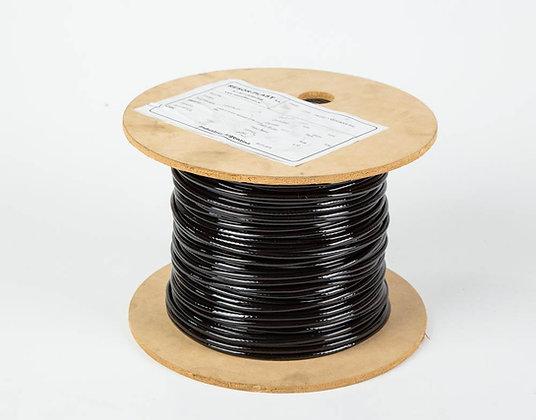 CABLE DE ACERO PLASTIFICADO 6X19 Ø3 A 5 NEGRO GYM