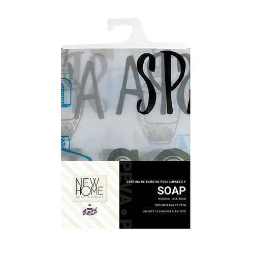 CORTINA PEVA SOAP – 180*180