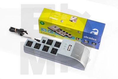 ESTABILIZADOR + Filtro de línea 6 salidas  P/2 PC 1000 VA