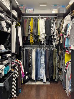 Black Melamine Closet