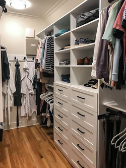 Two Drawer Stacks in White with Shaker-Style Drawer Fronts