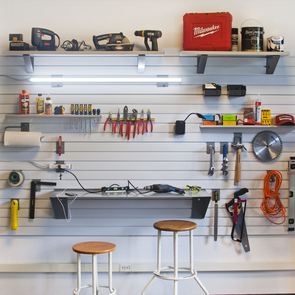 StoreWall Lighting and Workbench