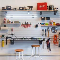 StoreWall Lighting and Workbench