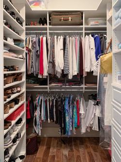 Walk-in Closet with Satin Chrome Accessories