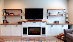 Shaker-style fireplace surround