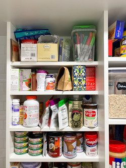 """Adjustable 8"""" deep shelves in the Pantry"""