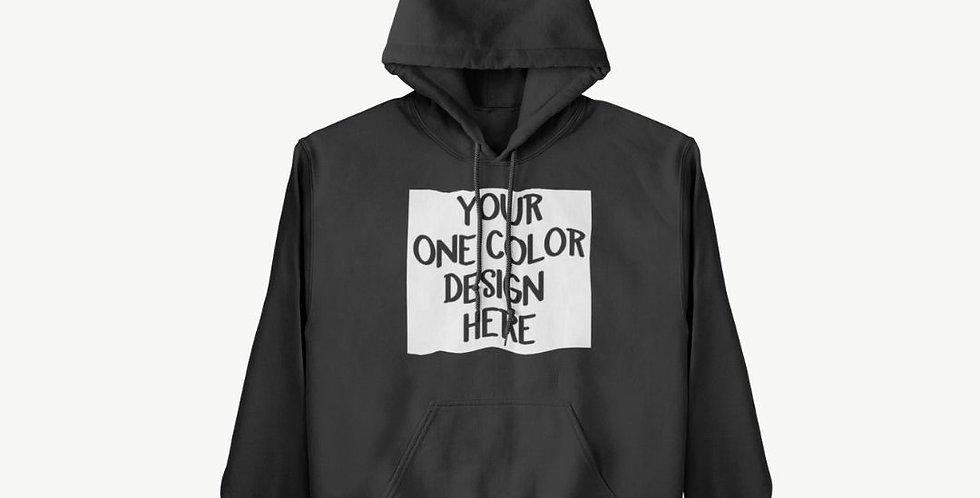 1 Color ADULT Custom Hoodie