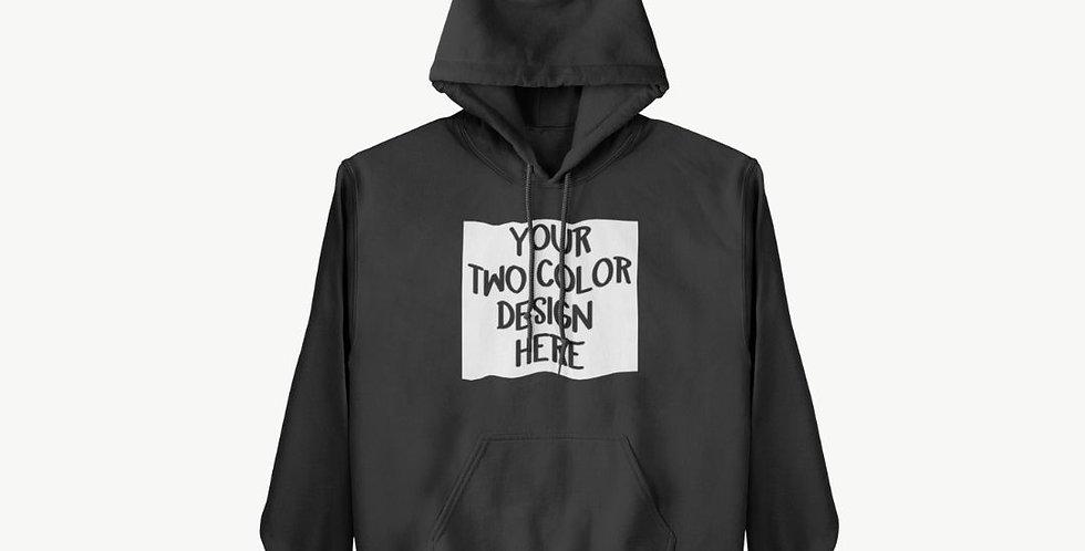 2 Colors ADULT Custom Hoodie