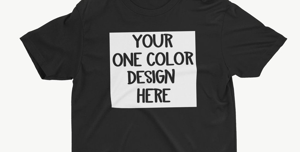 1 Color ADULT Customized Shirt