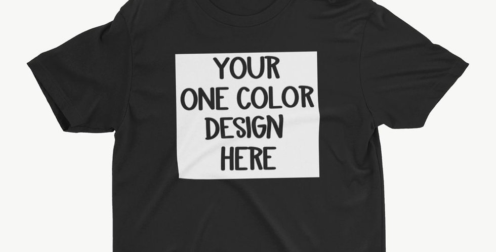 1 Color YOUTH Customized Shirt