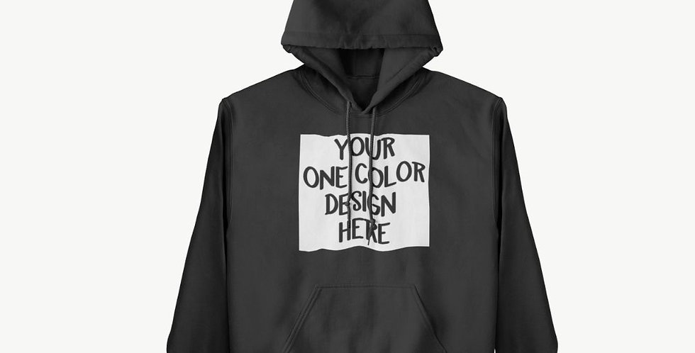 1 Color YOUTH Custom Hoodie