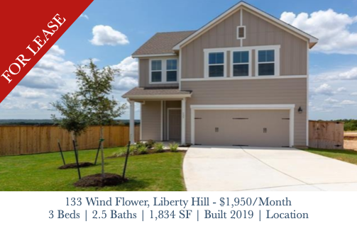 For Lease - 133 Wind Flower