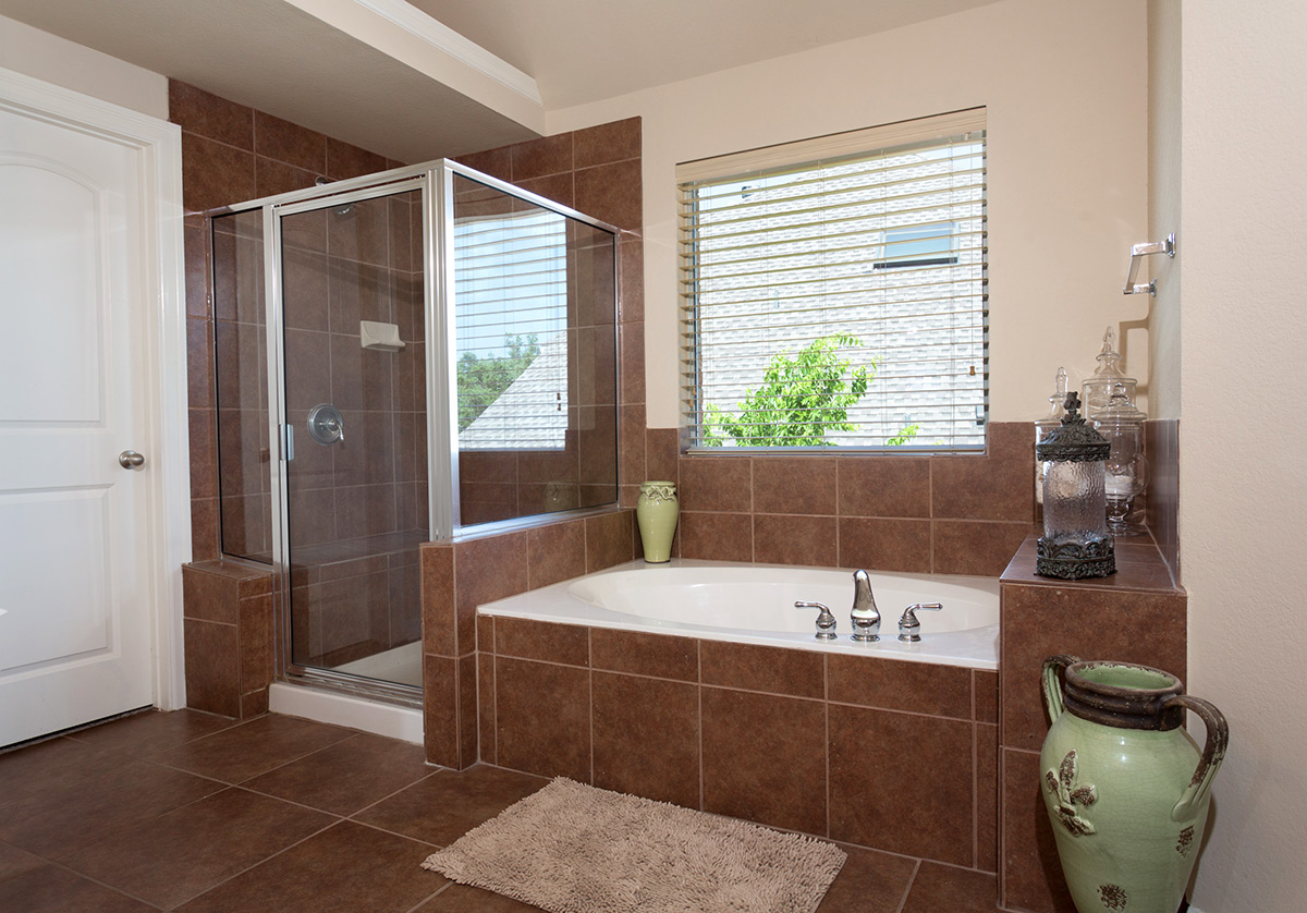 Soaker Tub and Stand Up Shower