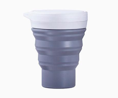 Copo Retrátil e Reutilizável Cinza Menos Um Lixo