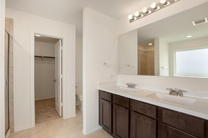 Dual Vanities, Walk-in Shower, Soaker Tub
