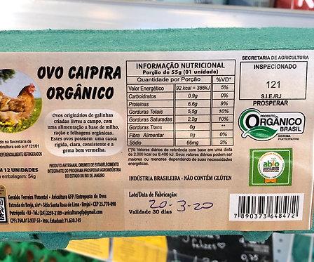 Ovos Orgânicos Sítio Anahata - 1 Dúzia