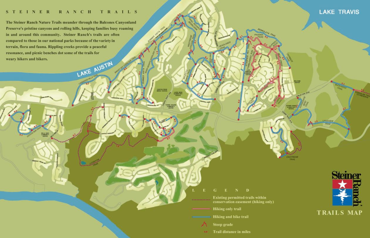 Steiner Ranch Trail Map