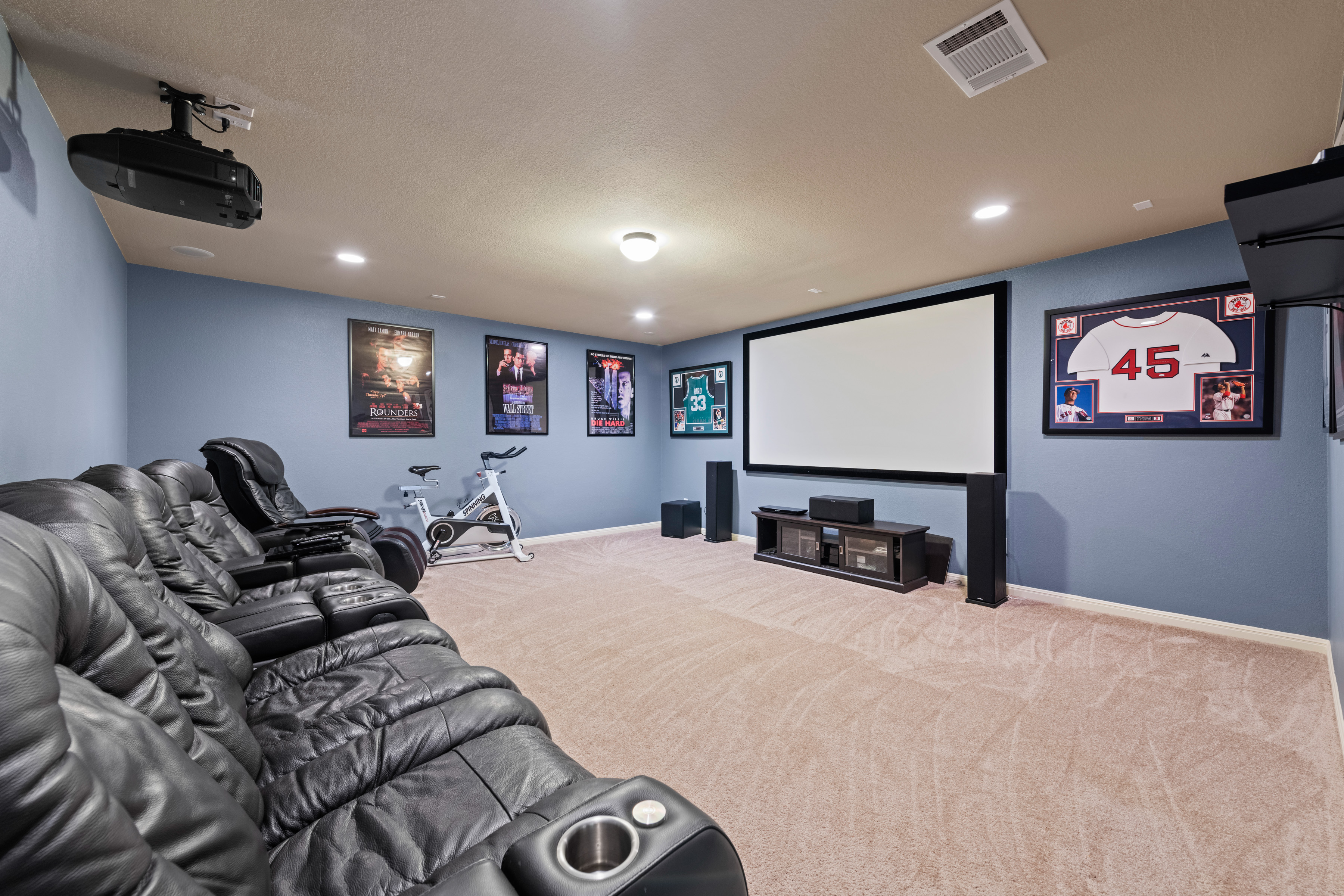 Media Room with Projector and Screen