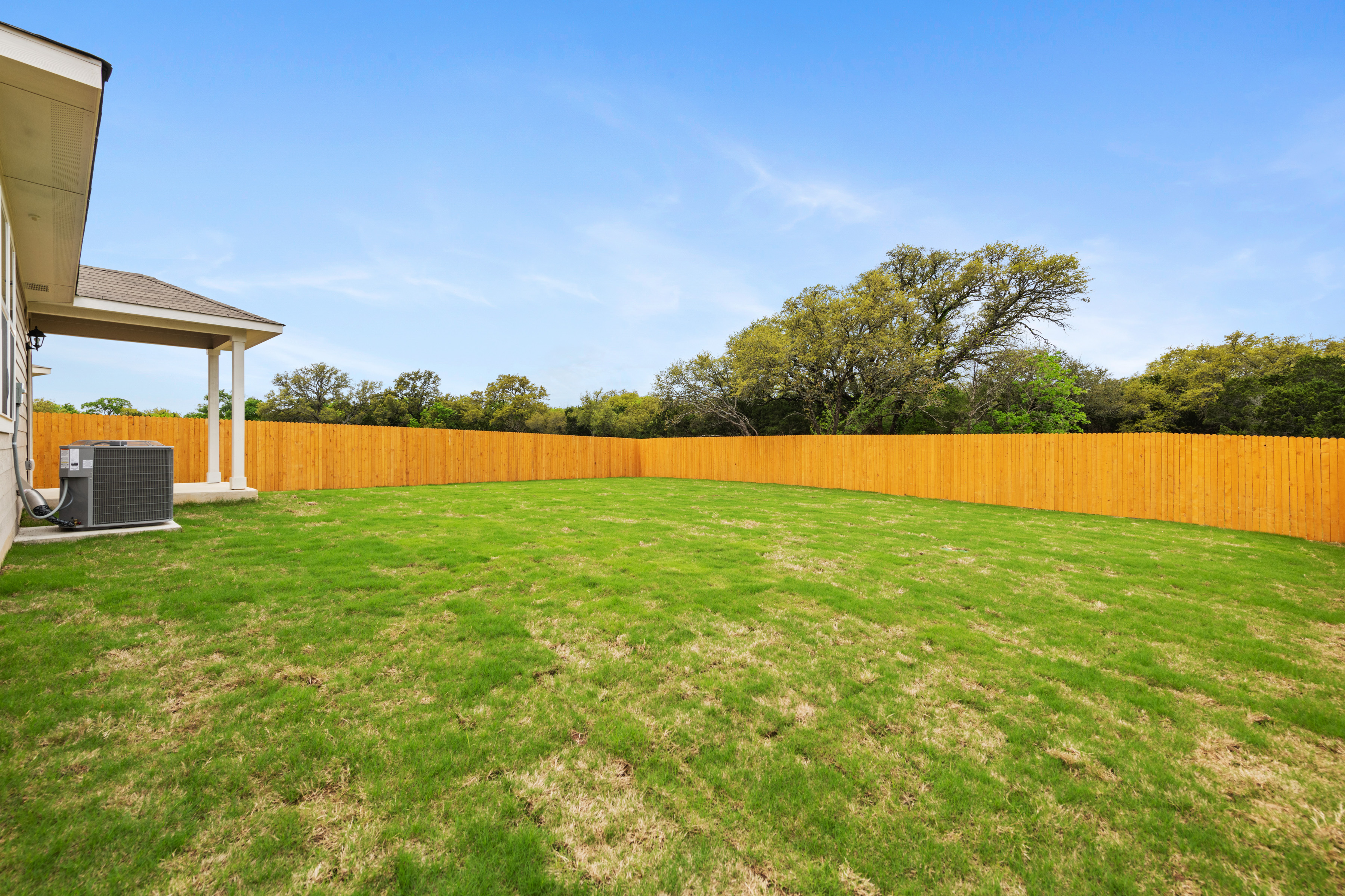 Large Yard with Greenbelt Views