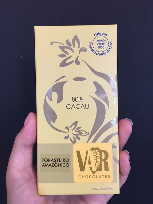 Chocolate 80% Cacau  VAR - Un