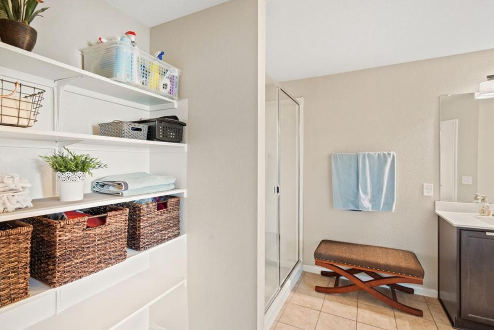 Bathroom Built-in Storage