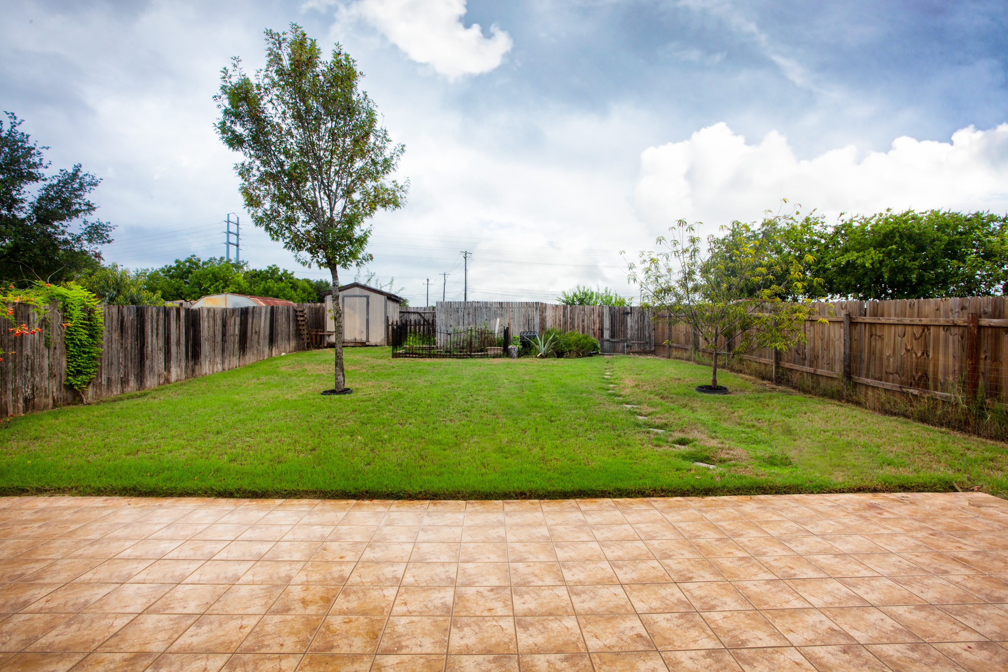 Large Private Back Yard