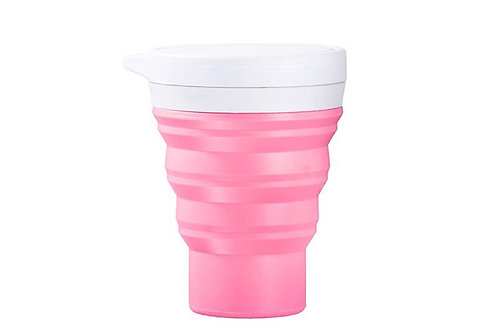 Copo Retrátil e Reutilizável Rosa Menos 1 Lixo