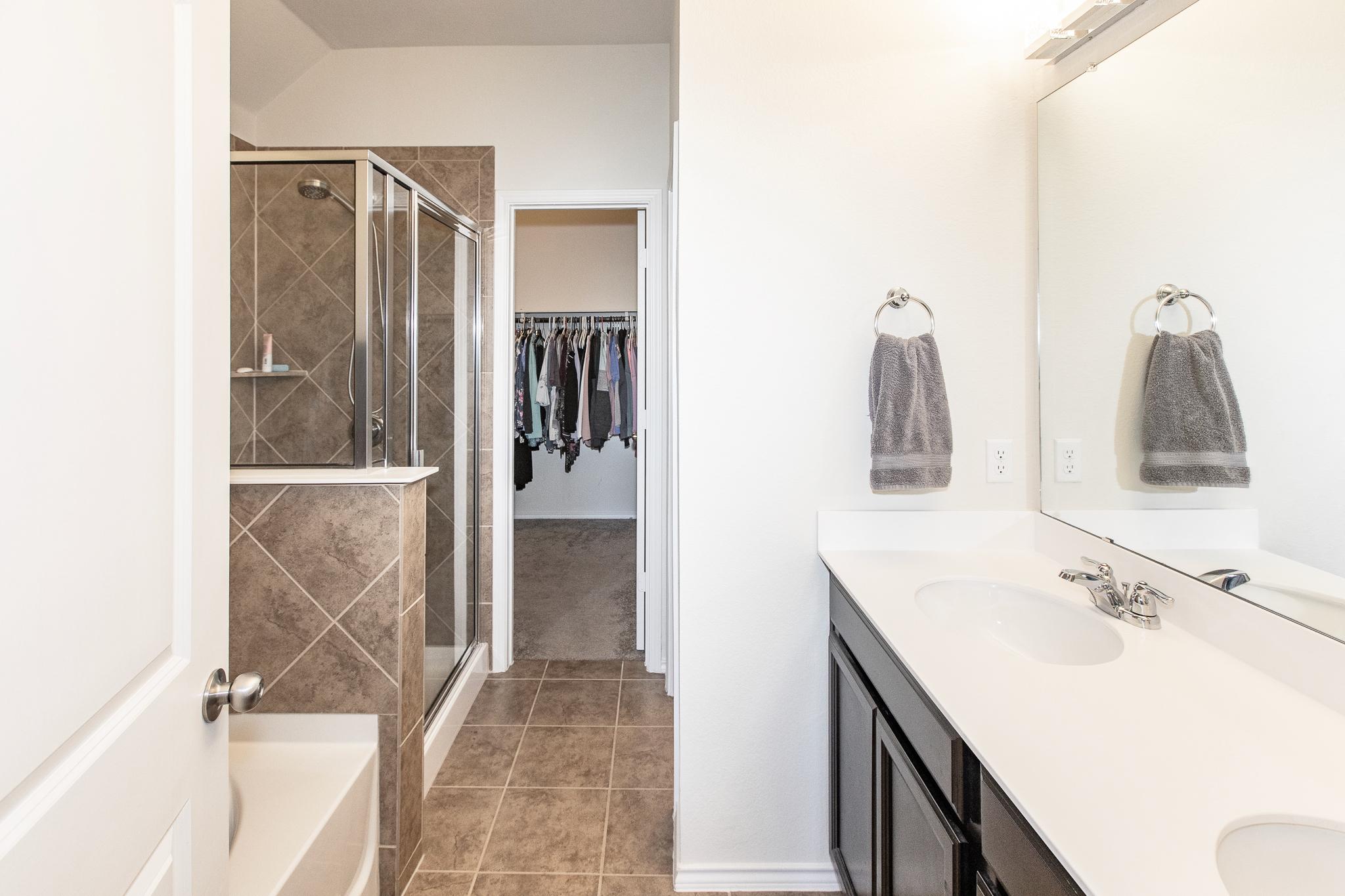 Dual Vanities and Walk-in Shower