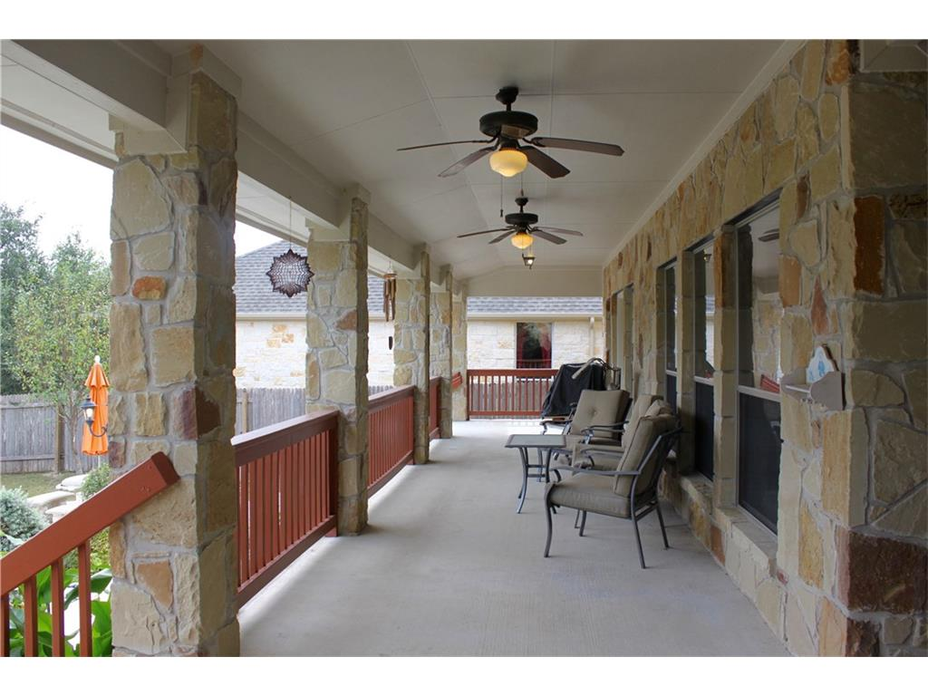 Covered Porch with Fans