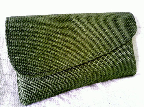 Solid Woven Clutch