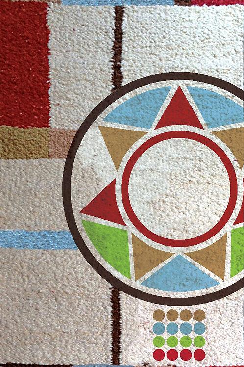 Hand Woven rug / wall Hanging: Maasai Necklace