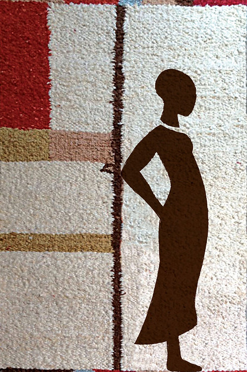 Hand Woven Rug/Wall Hanging: Massai Woman
