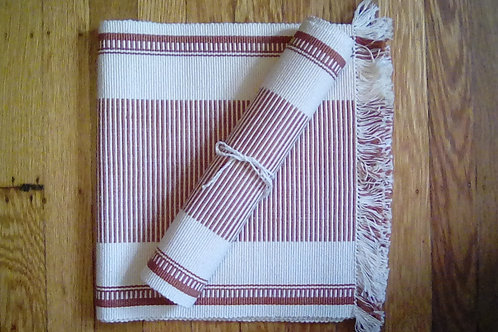 7pc Hand Woven Mat/Runner Set