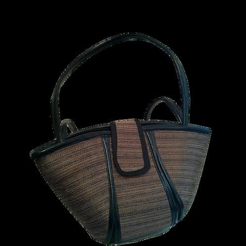Woven Love Boat Bag: Brown