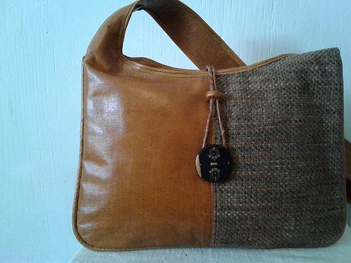 Safi 2-Toned Leather Shoulder Bag