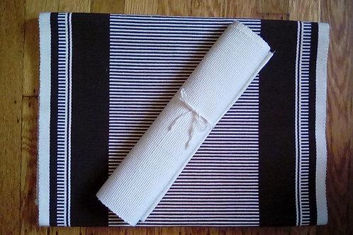 7pc Hand Woven Mat/Runner Set