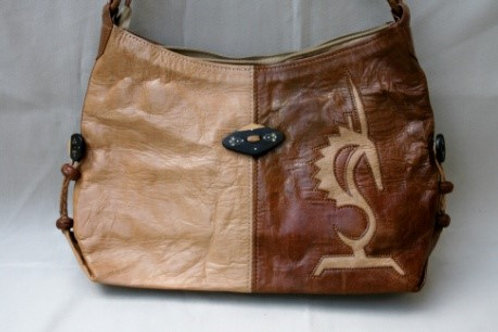 Safi-Safi Leather Bag w/Insignia