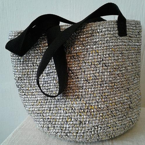 Large Soko Beach Bag:Silver
