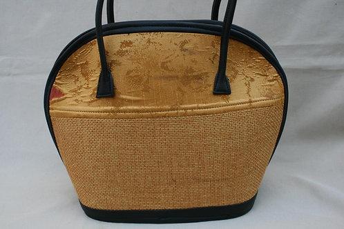 Woven Love Bowl Bag: light gold